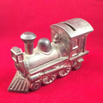 Leonard Train Coin Bank, Vintage,
