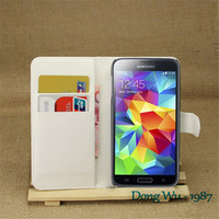 Mobile Phone Bag Cover Case with Card holder Leather Wallet Style Stand Case For Samsung Galaxy S5 i9600 G900