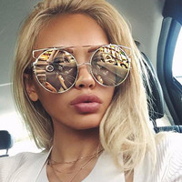 Double Wire Oversized Sun glasses