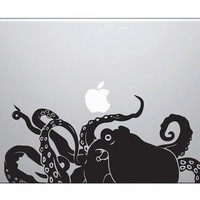 Large Octopus Laptop Decal