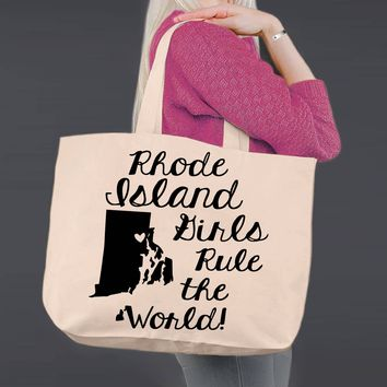 Rhode Island | Personalized Canvas Tote Bag