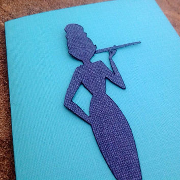 Audrey Hepburn / Holly Golightly card