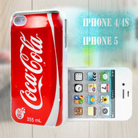 unique iphone case, i phone 4 4s 5 case,cool cute iphone4 iphone4s 5 case,stylish plastic rubber cases cover, funny red cocacola p1007