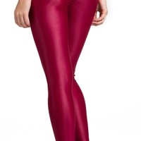Brazilian Workout Legging - Ruched Booty Up Shiny Red