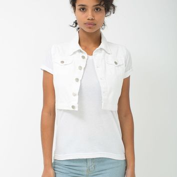 rsae381 - Crop Bull Denim Vest