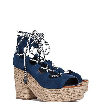 3c03ecaabd29 Tory Burch Positano Lace-up Platform from TORY BURCH