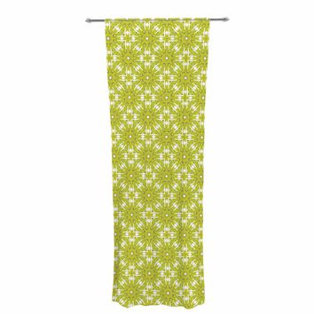 "Laura Nicholson ""Maple Leaves Geometric"" Green Nature Photography Illustration Decorative Sheer Curtain"