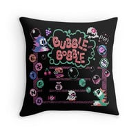 'Bobble Bubble' Throw Pillow by likelikes