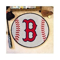 Boston Red Sox Baseball Rug - MLB Round Accent Floor Mat