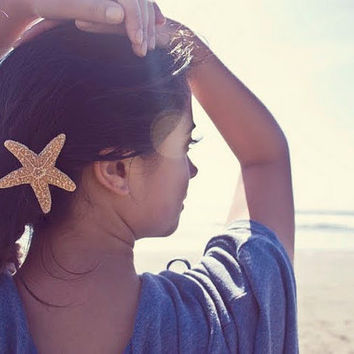 Cute Starfish Barrette by dreamsbythesea