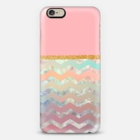 pink chevron and glitter iPhone 6 case by Sandra Arduini | Casetify