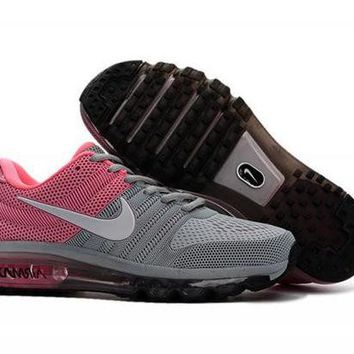 VONE8H5 Nike Air Max 2017. Grey, Pink & White. Women's Running Shoes Trainers