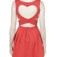 Rib Heart Back Prom Dress By Dress Up Topshop