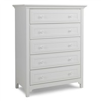 Contemporary Snow White Five Drawer Dresser