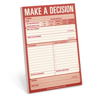 Make a Decision Pad by Knock Knock - knockknockstuff.com