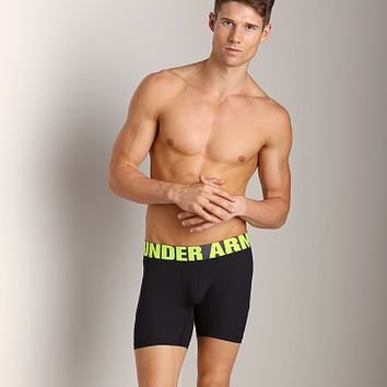 "Under Armour Ribbed 6"" Boxerjock Black 1240712-001 at International Jock Underwear & Swimwear"