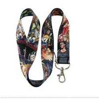 Kingdom Hearts 2 Disney Anime Black Lanyard, Cell Phone, ID Badge, Keychain Strap