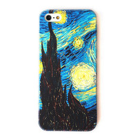 Van Gogh The Starry Night Color Phone Case For iPhone 5 from Galaxy Legging