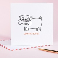 Ohh Deer Wanna Bone Valentines Card at asos.com