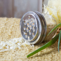 Grater Lid: Fits Any Wide-Mouth Mason Jar