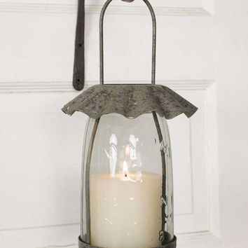 Tart Pan Mason Jar Candle Lantern from CrookedWood