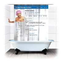Amazon.com: Spinning Hat Social Shower Curtain: Home & Kitchen