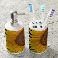 Giant Sunflowers Bathroom Set