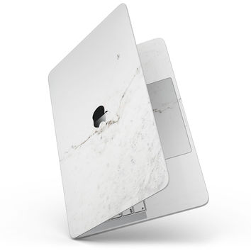 White Slight Grunge Marble Surface - MacBook Pro without Touch Bar Skin Kit