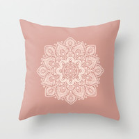 Decorative Throw Pillow Cover - Different sizes, Square, Rectangular, Double-sided print, Indoors, Outdoors, Mandala, Christmas,  Boho, Pink