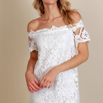 Lace Galore Dress Off White