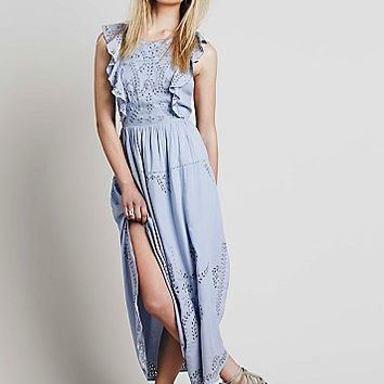 Free People Womens Pennylane Pinafore Maxi Dress