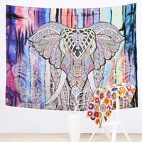 Elephant Boho Decorative Tapestry