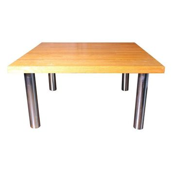 Pre-owned Vintage Butcher's Block Pine Coffee Table