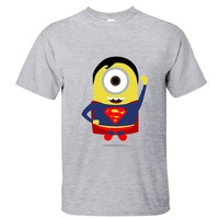 CRAZY POMELO Geek Super Minion Short-sleeved T-shirt for Men