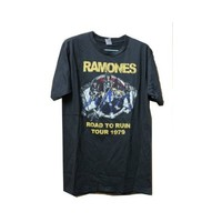 Ramones Road to Ruin Tour 1979 Rock Tank Top T-shirt Black Size Large Made in Thailand