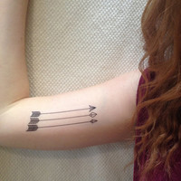 3 Skinny Arrows Temporary Tattoos- SmashTat