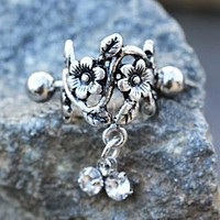 Antique Floral Cartilage Cuff Earring