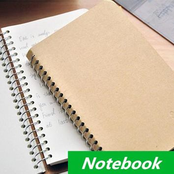 Vintage Notebook Spiral diary book hot sale notepad Simple design stationery office material School supplies 6608