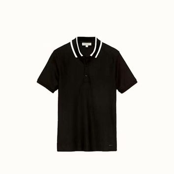 Burberry men's Short sleeve bead Cotton official website synchronized polo shirt, the original single high quality! Fabric soft and comfortable breathable!