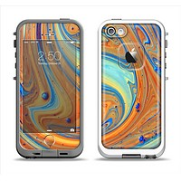 The Colorful Wet Paint Mixture Apple iPhone 5-5s LifeProof Fre Case Skin Set
