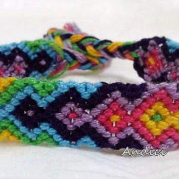 SALE 20% off Knots for a Cause - Happy Colours Arrows Macrame Knotted Friendship Bracelet