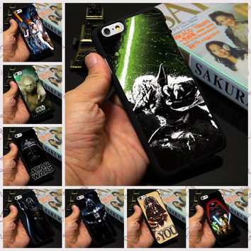 Master Yoda Lightsaber Empire Darth Vader Star Wars Hard plastic mobile phone Case Cover for iPhone 7 4 4s 5 5s SE 6 6 plus