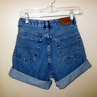 Denim Shorts Tommy Hilfiger Cut Off Jean Shorts Mid to High Waist 30 Womens Size 6 Hipster Urban