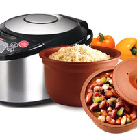 Vitaclay VM79006 Multicooker 6 Cup with An All Natural Clay