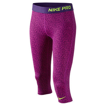 Girls' Nike Pro Allover Print Capris