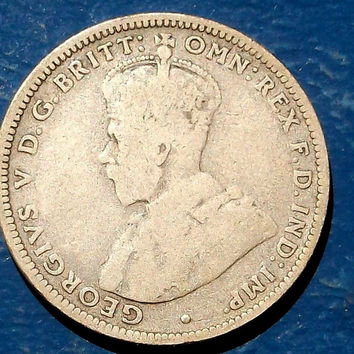 RARE KEY DATE 1915-H AUSTRALIA SILVER SHILLING NICE CIRCULATED