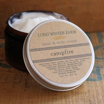 Campfire Skin Cream with Organic Aloe Juice hand body Lotion