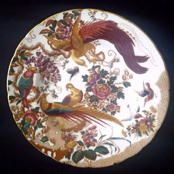 Royal Crown Derby 'Olde Aves' Plate. 1st Quality. Dated 1986. Collector's Plate Home Decor Display Plate Cabinet Plate