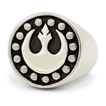 Sterling Silver Star Wars REBEL ALLIANCE Ring The StarBird Insignia New Republic