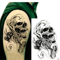 5Pcs Punk Skull Style Henna Tattoo Paste On The Body 3D Waterproof Sticker Sleeve Body Art Sexy Product Cool Temporary Tattoo